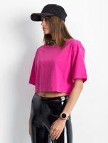 Różowy krótki t-shirt                                   zdj.                                  3