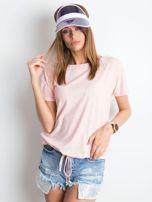 Różowy melanżowy t-shirt Curiosity                                  zdj.                                  1