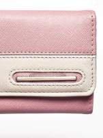 Różowy portfel z beżowym wykończeniem                                  zdj.                                  6