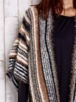 Różowy sweter poncho z frędzlami                                                                           zdj.                                                                         6