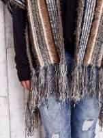 Różowy sweter poncho z frędzlami                                   zdj.                                  7
