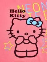 Różowy t-shirt dla dziewczynki HELLO KITTY z gwiadkami                                  zdj.                                  4