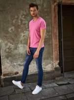 Różowy t-shirt męski z trójkątnym dekoltem Funk n Soul                                                                          zdj.                                                                         10