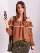 SCANDEZZA Brązowa bluzka hiszpanka                                  zdj.                                  8