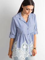 Ciemnoniebieska koszula w paski                                  zdj.                                  3