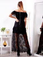 Czarna długa koronkowa sukienka                                  zdj.                                  2