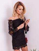 SCANDEZZA Czarna koronkowa sukienka                                  zdj.                                  8