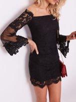 SCANDEZZA Czarna koronkowa sukienka                                  zdj.                                  1