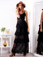 Czarna sukienka z falbanami                                  zdj.                                  5