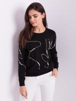 Czarny sweter z perełkami                                  zdj.                                  6