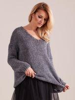 Szary luźny sweter                                   zdj.                                  4