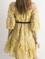 Żółta sukienka hiszpanka z koronką                                  zdj.                                  2