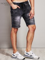 SCOTFREE Czarne jeansowe szorty męskie                                  zdj.                                  3