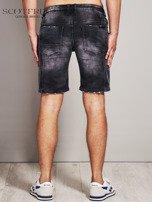 SCOTFREE Czarne jeansowe szorty męskie                                  zdj.                                  4