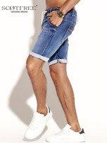 SCOTFREE Niebieskie jeansowe szorty męskie                                  zdj.                                  8
