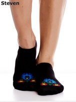 STEVEN Czarne stopki bawełniane z folkowym detalem                                  zdj.                                  6