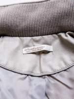 STRADIVARIUS Beżowa kurtka typu ramoneska z zamszu                                  zdj.                                  3