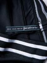 STRADIVARIUS Czarne legginsy ze sportowym pasem
