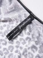 STRADIVARIUS Czarno-biała sukienka z nadrukiem patchworkowym                                                                          zdj.                                                                         3