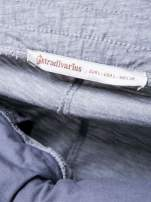 STRADIVARIUS Jasnoszare spodnie dresowe typu slim z ozdobnym pasem