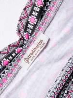 STRADIVARIUS Różowy bralet w azteckie wzory