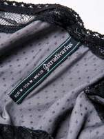 STRADIVARIUS Szara sukienka bieliźniana w groszki z koronkowym wykończeniem