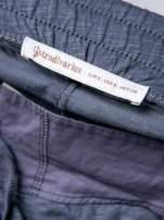 STRADIVARIUS Szare spodnie dresowe typu slim z ozdobnym pasem