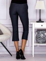Spodnie 7/8 w drobny wzór szare                                  zdj.                                  2