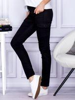 Spodnie czarne z kieszeniami PLUS SIZE                                  zdj.                                  3