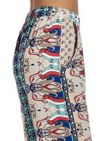 Spodnie dzwony we wzór ornamentowy                                  zdj.                                  6
