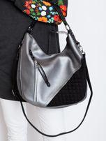Srebrna torba z suwakami                                  zdj.                                  1