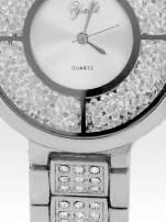 Srebrny zegarek damski na bransolecie ze srebrną cyrkoniową tarczą                                                                           zdj.                                                                         5