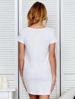 Sukienka bawełniana IT'S ABOUT STYLE biała                                  zdj.                                  2
