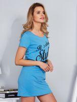 Sukienka bawełniana IT'S ABOUT STYLE niebieski                                  zdj.                                  3