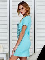 Sukienka bawełniana z kwiatowym nadrukiem jasnoniebieska                                  zdj.                                  5