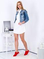 Sukienka biała z kołnierzykiem                                  zdj.                                  4
