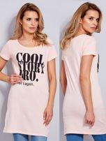 Sukienka brzoskwiniowa bawełniana COOL STORY BRO                                  zdj.                                  1