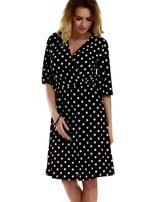 Sukienka czarna w grochy                                  zdj.                                  5