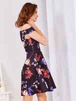 Sukienka czarna w tulipany                                  zdj.                                  9