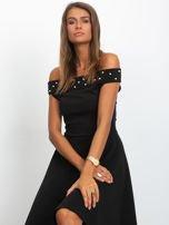 Sukienka czarna z perełkami                                  zdj.                                  1