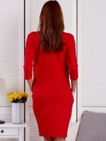 Sukienka damska czerwona z diamentem                                  zdj.                                  2