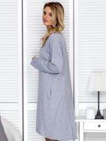 Sukienka damska dresowa o luźnym kroju szara                                  zdj.                                  5