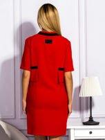 Sukienka damska z kieszeniami czerwona                                  zdj.                                  2