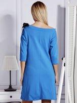 Sukienka damska z kokardami niebieska                                  zdj.                                  2