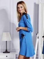 Sukienka damska z kokardami niebieska                                  zdj.                                  3