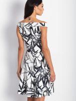 Sukienka ecru z motywem liści                                  zdj.                                  5