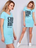 Sukienka jasnoniebieska bawełniana COOL STORY BRO                                  zdj.                                  1