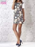 Sukienka z okrągłym kwiatowym nadrukiem                                  zdj.                                  1