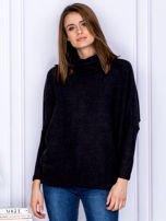 Sweter czarny z miękkim kołnierzem                                  zdj.                                  1