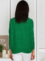 Sweter zielony z miękkim kołnierzem                                  zdj.                                  2